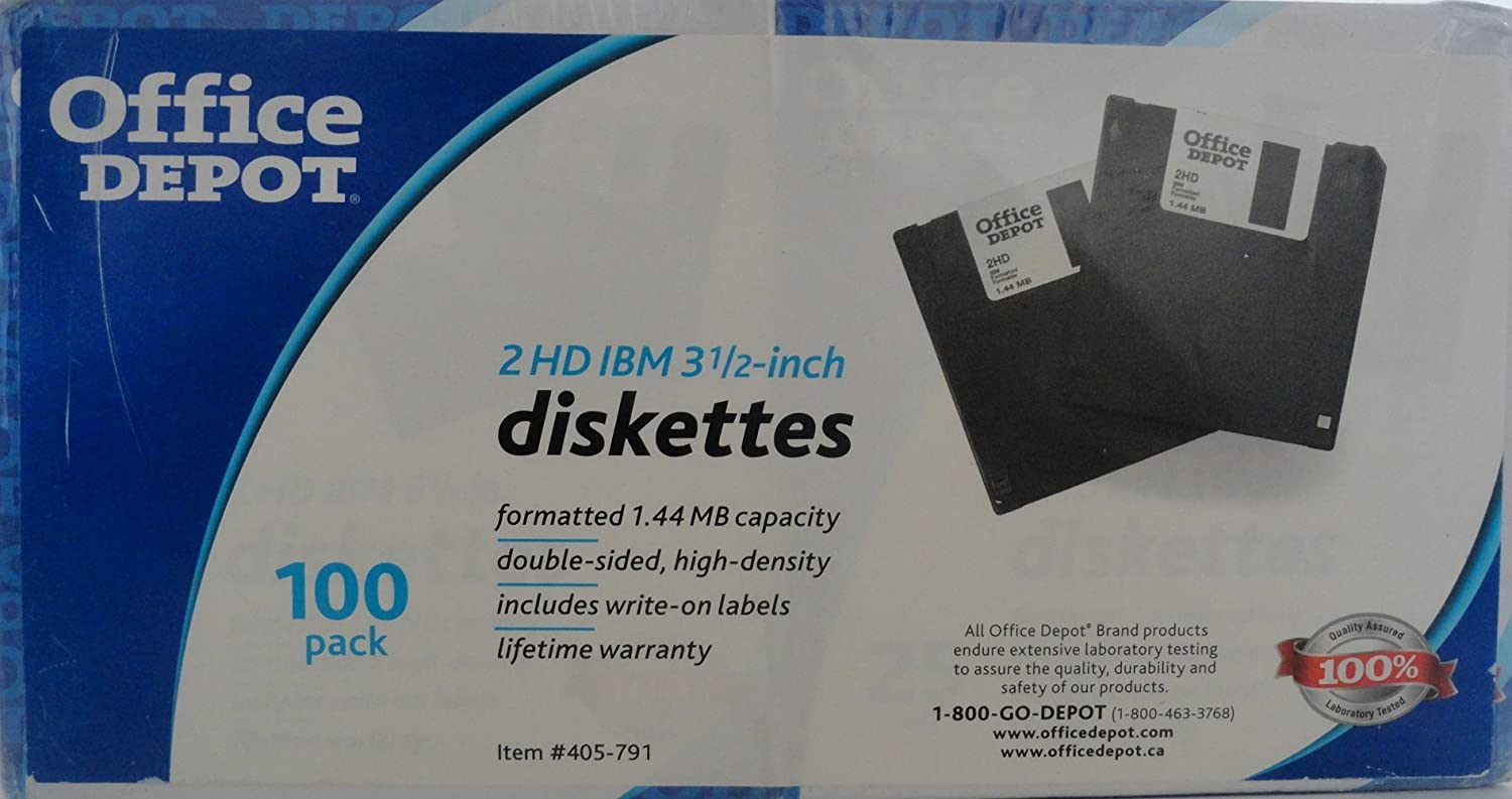 Office depot services register new product - Amazon Com Office Depot 3 5in Bulk Diskettes Ibm Format Ds Hd Black Box Of 100 41208 Electronics