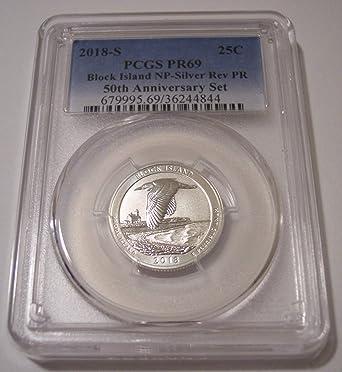2018-S ATB Quarter Silver Proof Block Island No Problem Coin