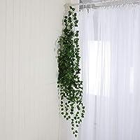 MorNon 12 Strands Fake Ivy Leaf Plants Vine Artificial Ivy Leaves for Wedding,Party, Garden, Home Decoration