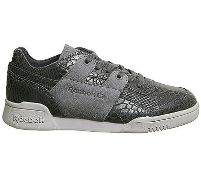 Reebok Workout Lo Dcn Foil Damen Sneaker Grau: