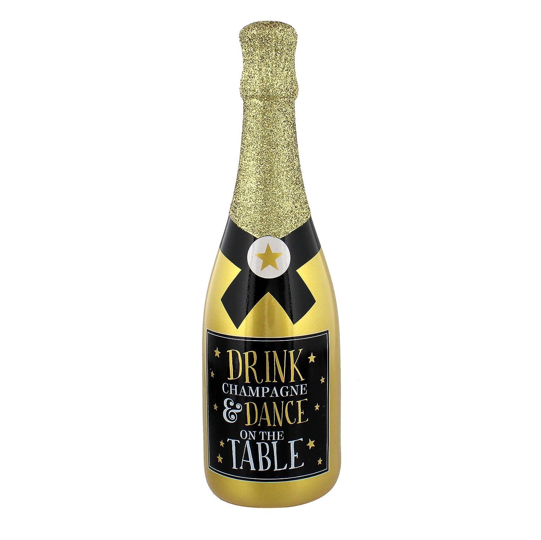 Signography risparmio celebrazione oro champagne/prosecco salvadanaio Dance on the table WBL