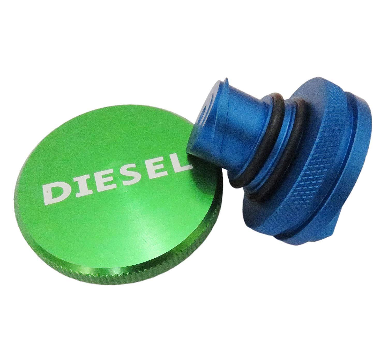 2013-2018 New Aluminum Billet Diesel Gas Tank Set Magnetic Cover Fuel Gas Cap /& DEF Cap Combo for Dodge Ram Truck 1500 2500 3500