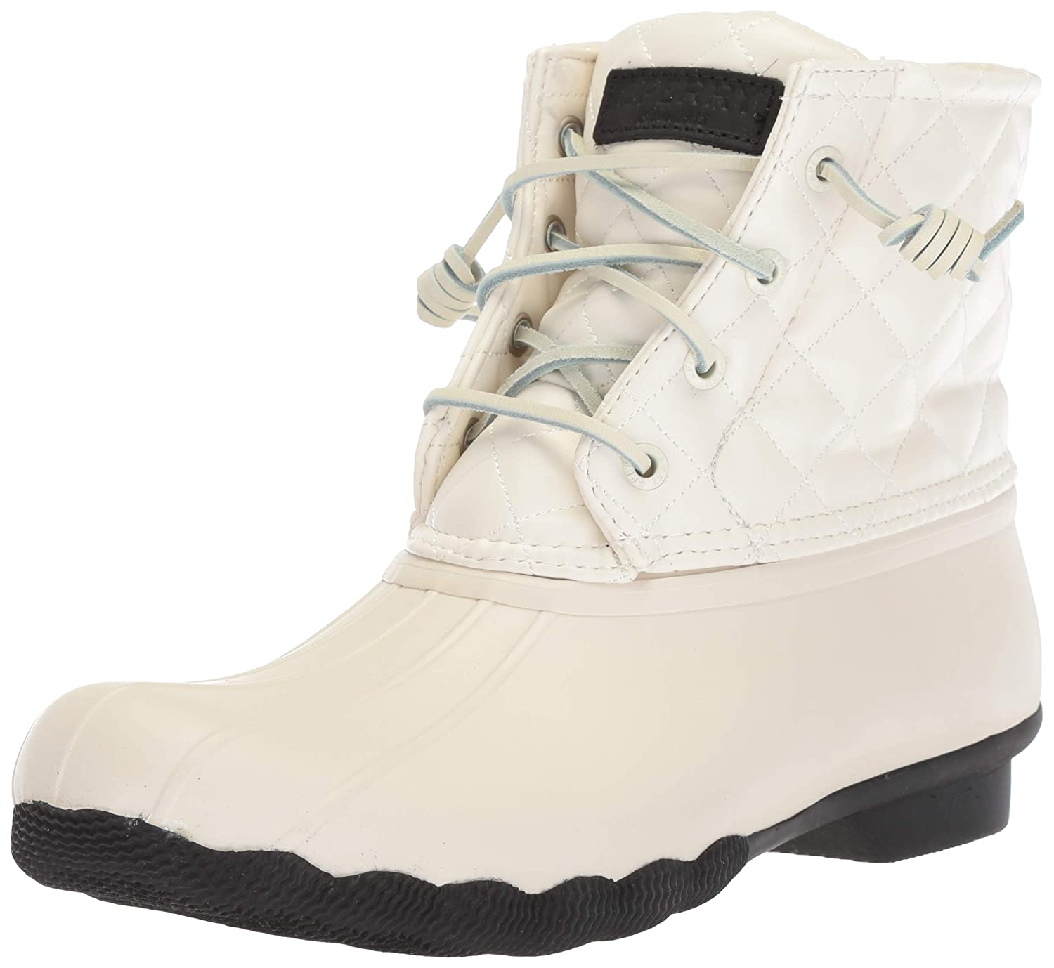 Saltwater Quilted Lux Rain Boot, Ivory