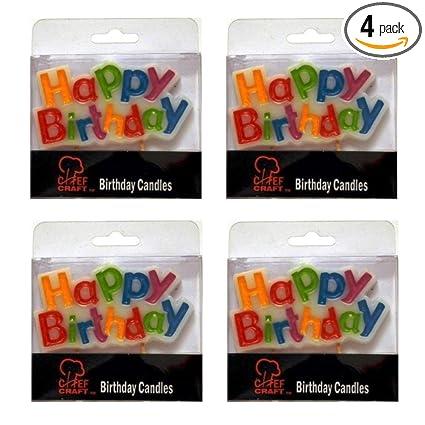 Amazon.com: Feliz Cumpleaños Pastel Pastel Decoración Vela ...