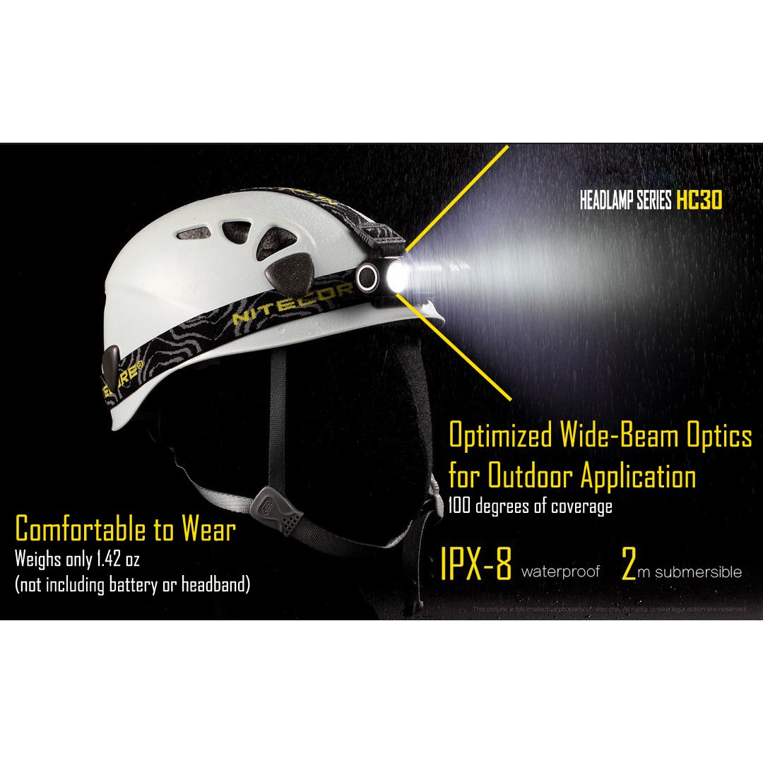 NiteCore NCHC30 Torcia da testa a LED, 1000 lumens