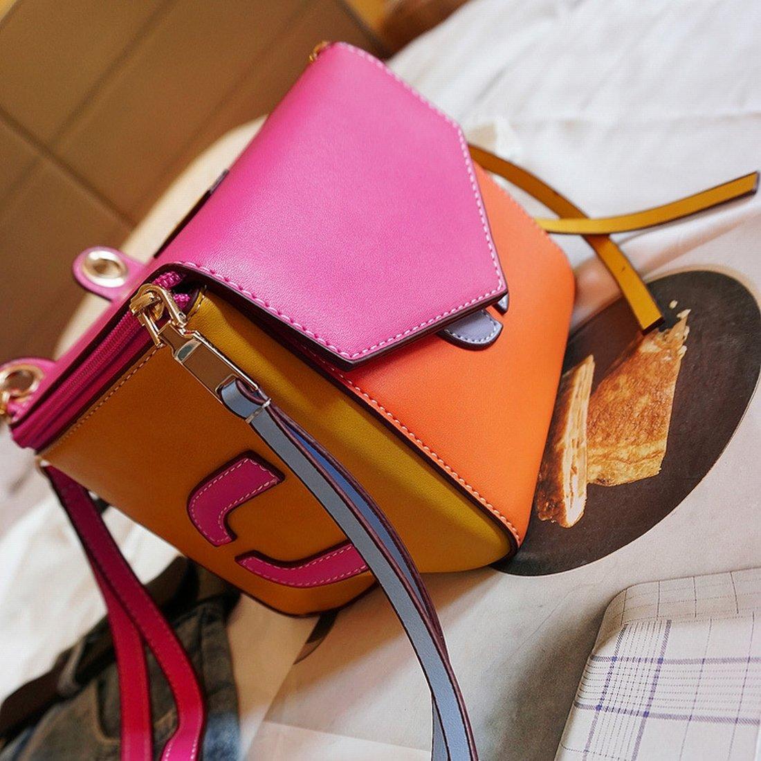 YTTY Doppelter Schulter mit der horizontalen Tasche mit Quadrata Mini Tasche aus Reiner Polyester weich von der Schultertasche Dell'Außeneinheit, Lateral, Pu Del