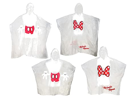 Disney Adult Kids Mickey Minnie Mouse Family Poncho Set Pack