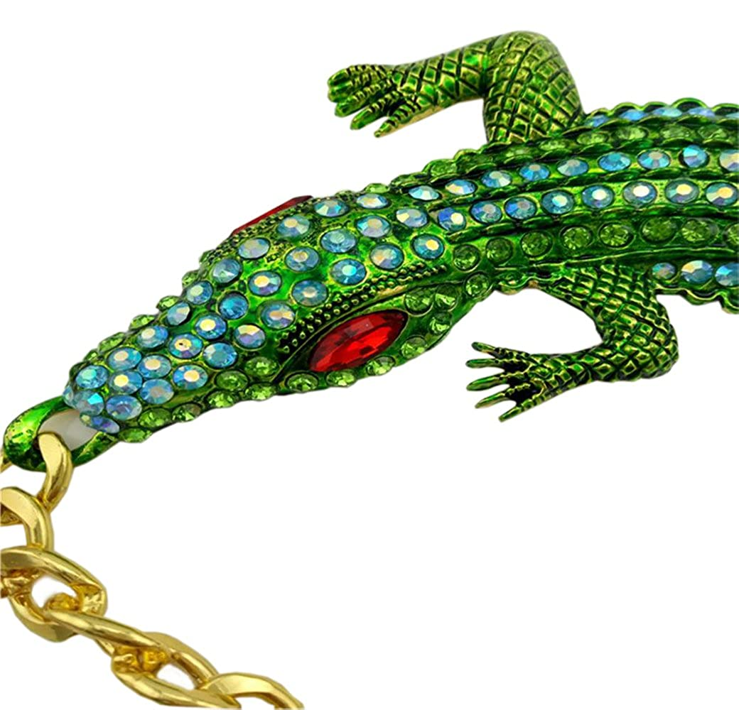 63317ec2f3f Necklaces 17Rainbow Baroque Inlay Full Crystal Rhinestone Big Crocodile  Alligator Chunky Statement Necklace Choker Collar