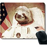 Funy Sloth Dress As a Astronaut Personality Mouse Pad Unique Design Mousepad