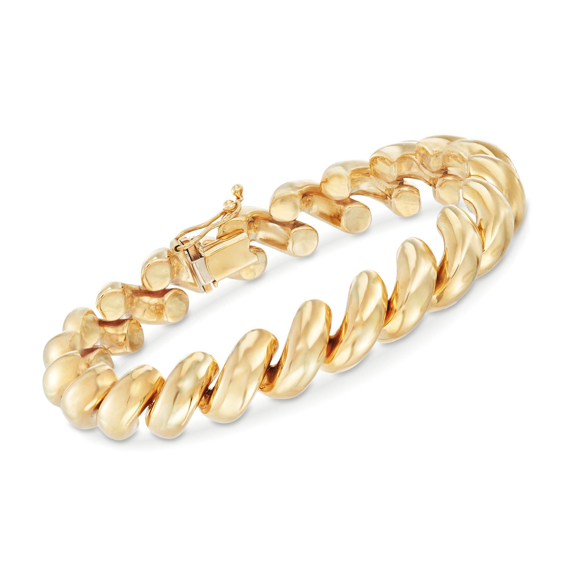 Ross-Simons 14kt Yellow Gold San Marco Bracelet