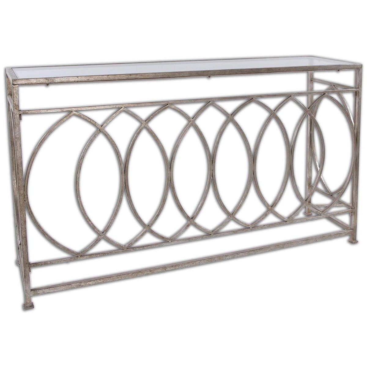 Amazon.com: Uttermost 24306 Aniya Glass Top Console Table: Kitchen U0026 Dining