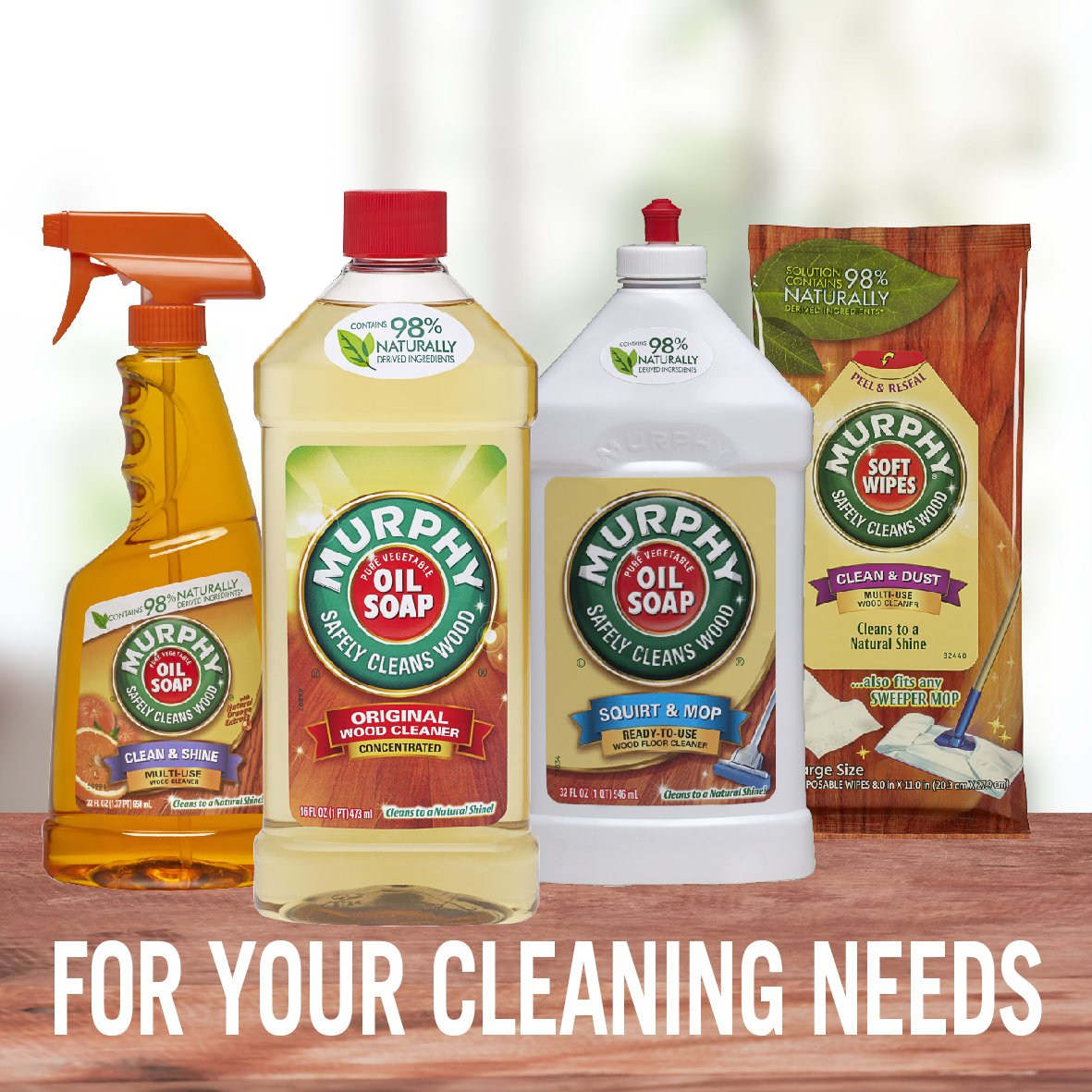 MURPHY OIL SOAP Wood Cleaner, Original, Concentrated Formula, Floor Cleaner, Multi-Use Wood Cleaner, Finished Surface Cleaner, 128 Fluid Ounce (US05480A) by Murphy Oil (Image #9)