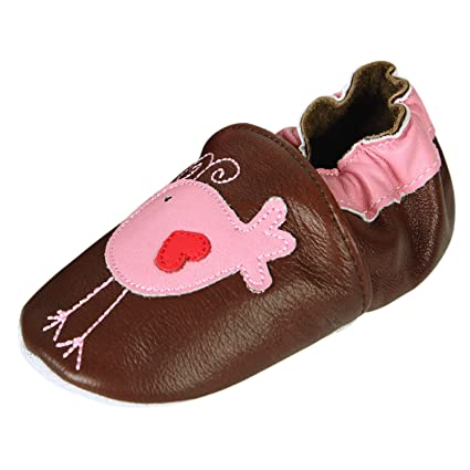128febce60545 CHIC-CHIC- Chaussures Bébé - Chaussons Bébé - Chaussons Cuir Souple -  Chaussures Cuir