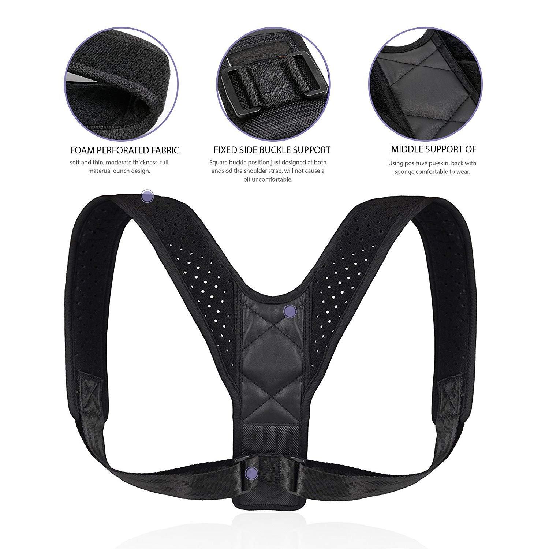 Reazeal Posture Corrector for Men&Women Effective-Adjustable Shoulder&Back Brace Support Improve Upper Back Shoulder Posture