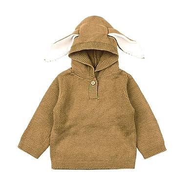 d4678bfc2 Amazon.com  Bokeley Newborn Sweater Baby Boys Girls Tops Cartoon Ear ...