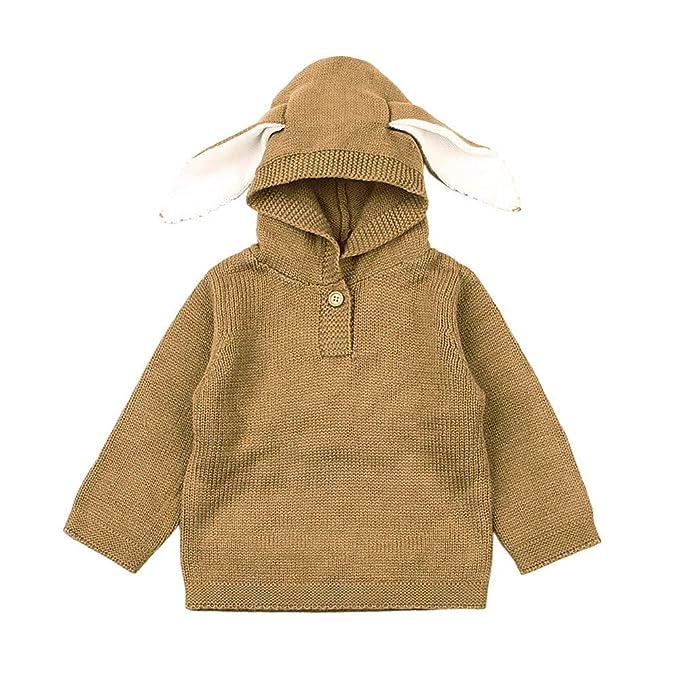 Ropa de Prendas de Punto de Jerseys Manga Largas para Unisex Bebé Niños  Niñas Otoño Invierno ae503c87e8cc
