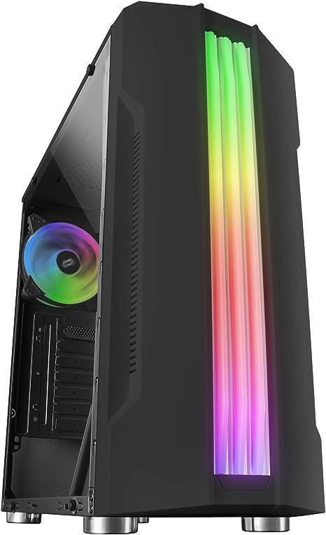 Mars Gaming MCK, Caja PC ATX, TrIple Franja LED, Ventilador Trasero 12cm, Negro: Amazon.es: Informática