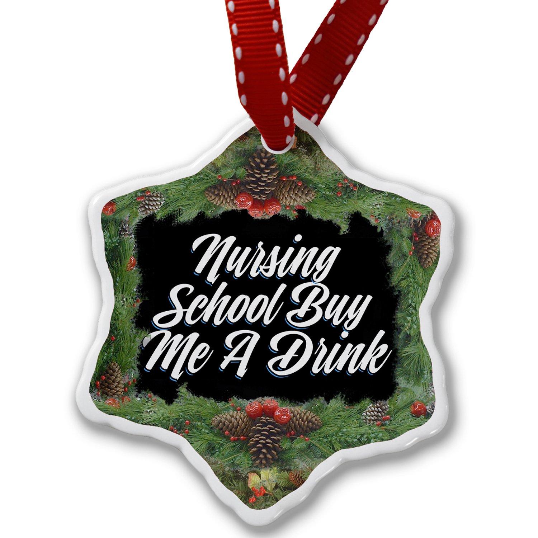 Christmas Ornament Classic design Nursing School Buy Me A Drink - Neonblond
