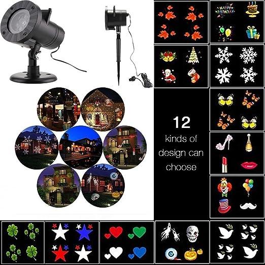 Proyector de luz LED Proyector de luz Lámpara de fiesta Luces ...