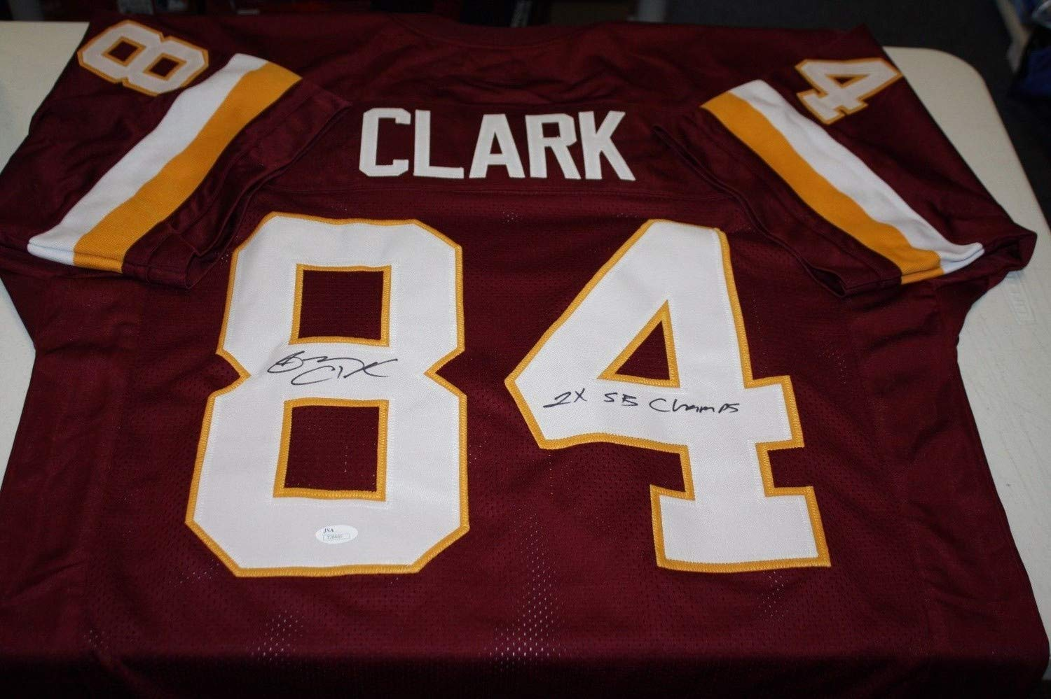 Washington Redskins Gary Clark #84 Autographed Signed Custom Home Jersey 2X Super Bowl JSA Authentic