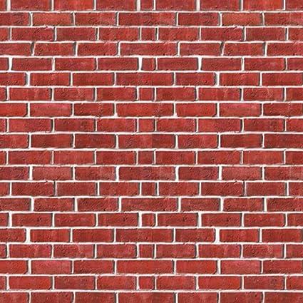 Amazoncom Reyo Red Simulation Brick Wall Sticker 3d Brick