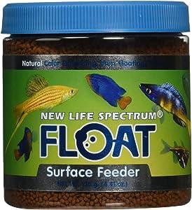 New Life Spectrum Float Surface Feeder 1mm Floating Salt/Fresh Pet Food, 120gm