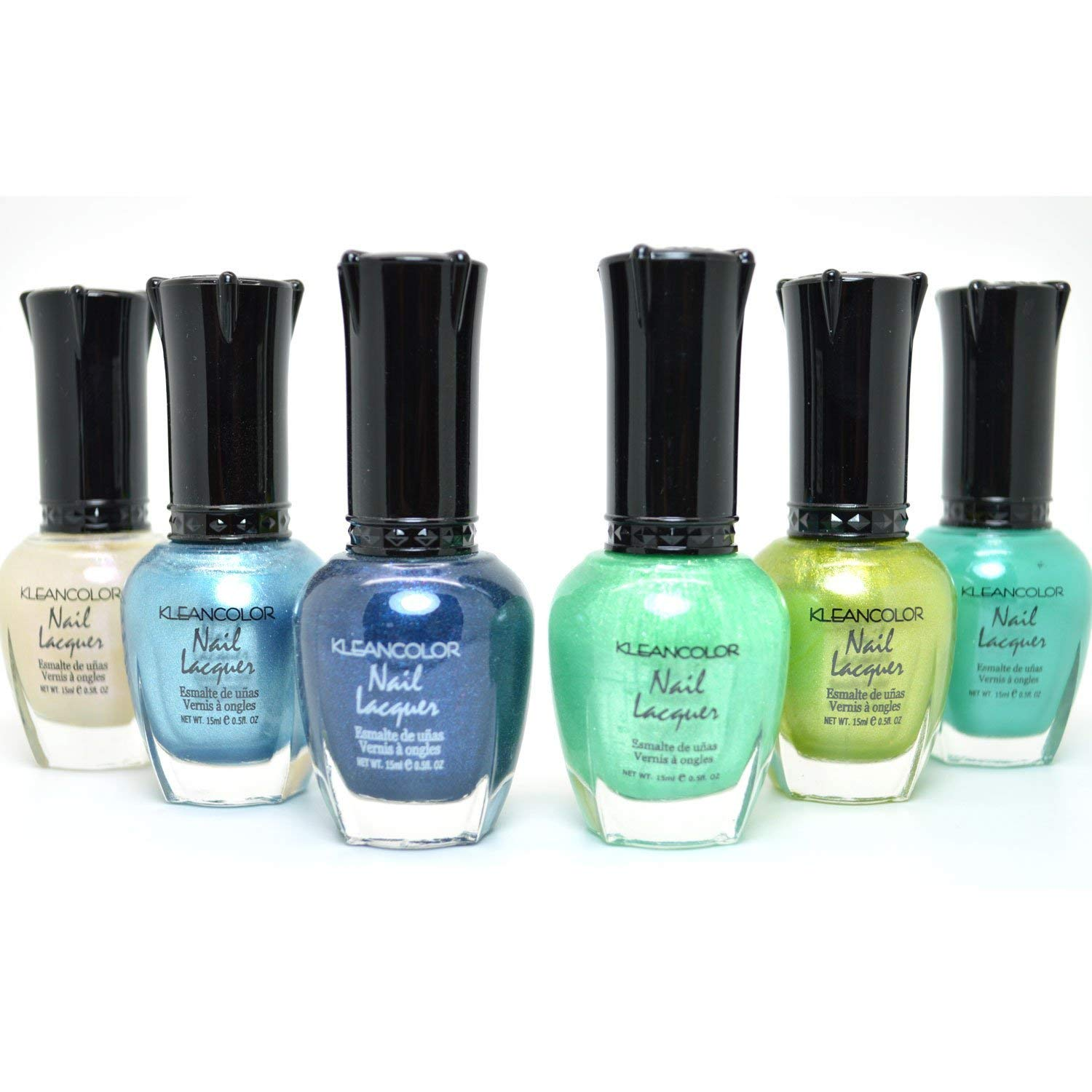 Amazon.com : Kleancolor Metallic Nail Lacquer 6 Colors Set