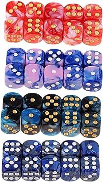 IPOTCH 40x Juego de Mesa D6 Dados de Seis Caras Juguete Divertido para Fiesta: Amazon.es: Juguetes y juegos