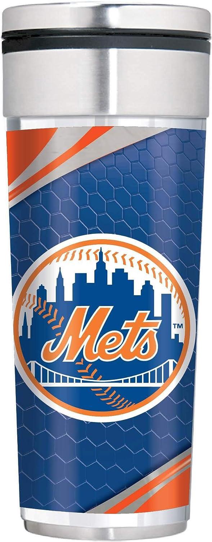 Great American Products New York Mets Big Slim 22 oz Stainless Steel Travel Tumbler w//Metallic Graphics