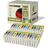 Pack de 30 XL TONER EXPERTE® Compatibles Epson 16XL Cartuchos de Tinta para Epson Workforce WF-2010W, WF-2510WF, WF-2520NF, WF-2530WF, WF-2540W, WF-2630WF, WF-2650DWF, WF-2660DWF
