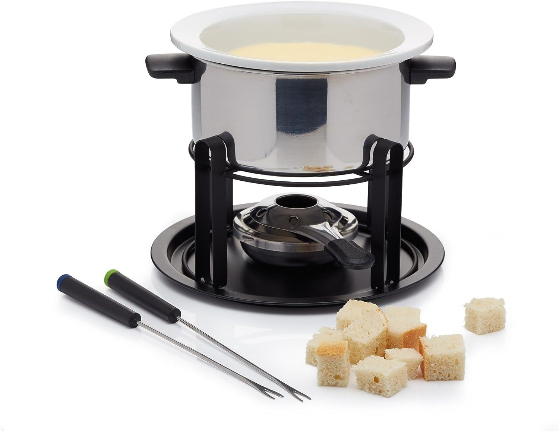 Kitchen Craft Appareil /à fondue en /émail avec 6 fourchettes Cr/ème