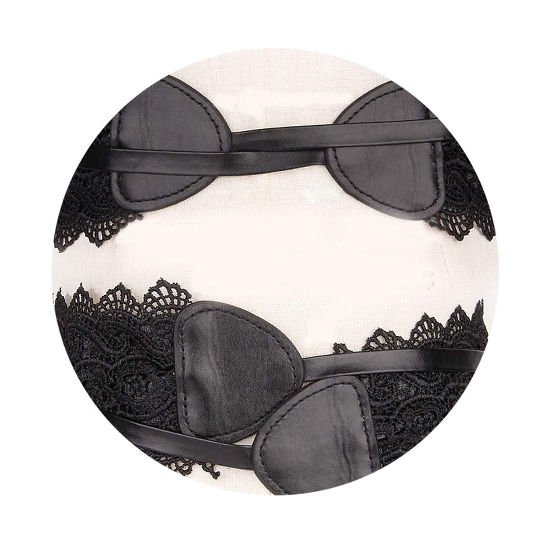 Adjustable Fashion Black//White Belts For Women Faux Leather Lace Wide Belt Female Bowknot Weaving Belt Bo