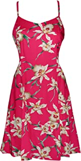 product image for Paradise Found Womens Star Orchid Princess Seam Mini Sundress in Fuchsia - XS