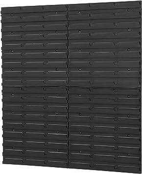 4 Stuck Wandplatten Wandregal Lochplatte Stapelboxen Lagerregal Regalsystem Regalsystem Wandtafel Schwarz Amazon De Baumarkt