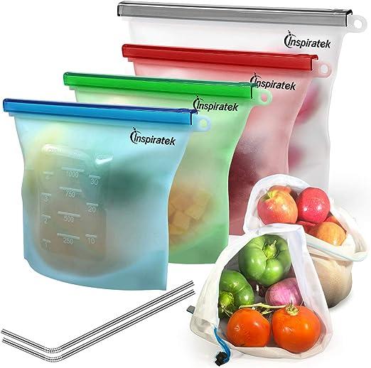 Congelador Reutilizable bolsas de alimentos Apto para Lavavajillas niños pequeños. paquete de 10 Bebés