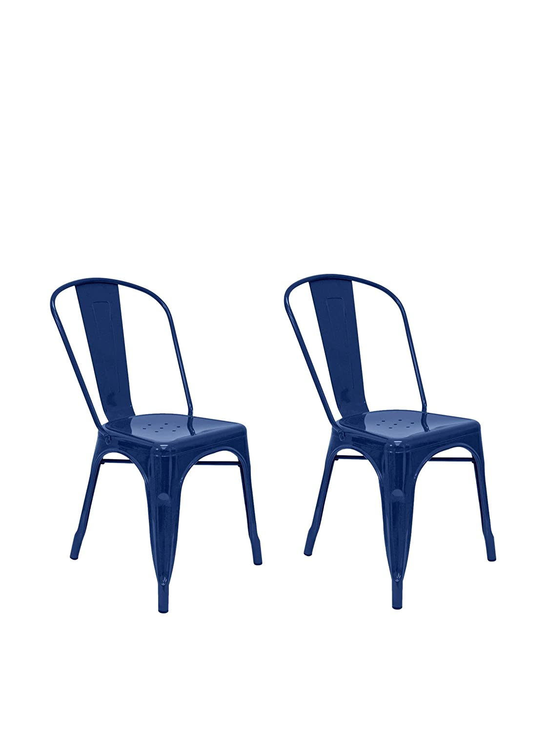 Aeon Furniture Side Chair in Navy Blue – Set of 2