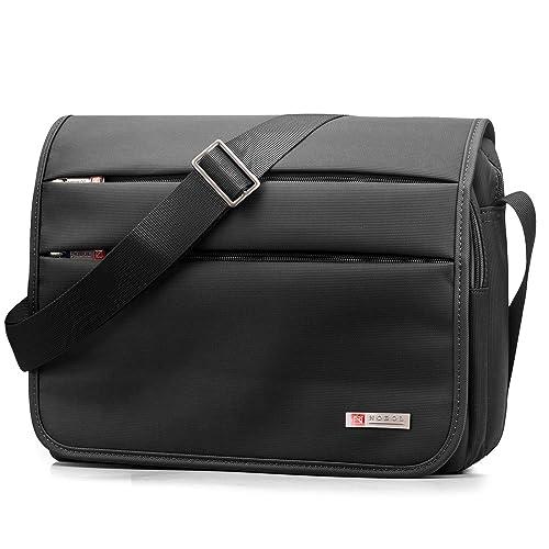 5935369a9e SPAHER Ipad Borsa a tracolla da uomo Crossbody Messenger Bag Cartella Borsa  da lavoro Portatile Ventiquattrore