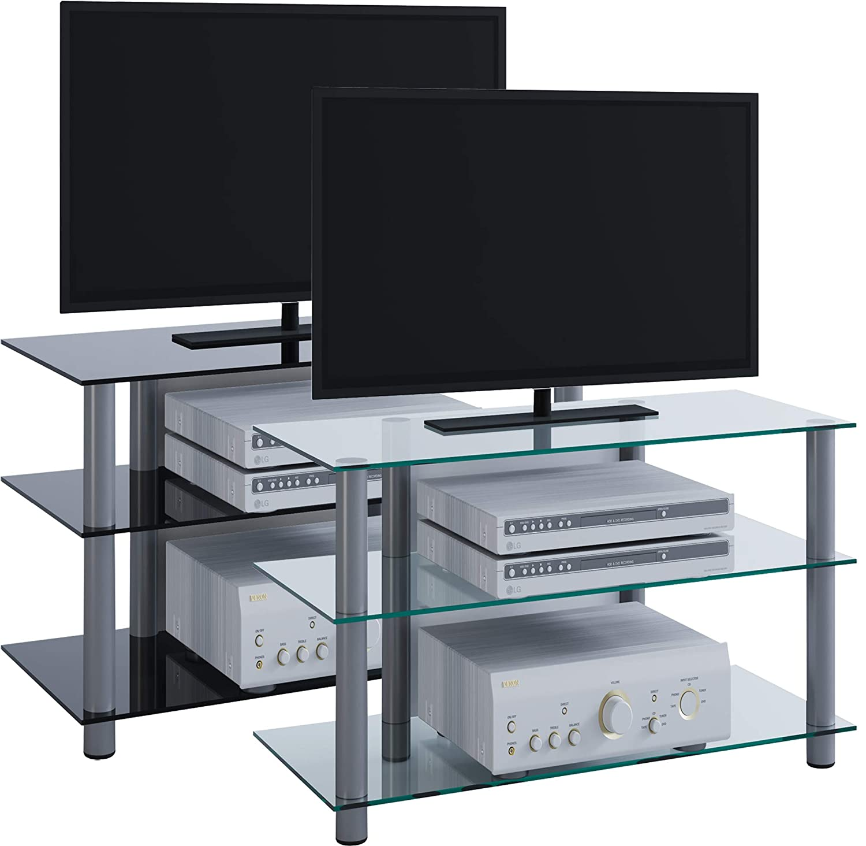 VCM Sindas-Mueble para TV, Cristal de Color Negro, Aluminio: Amazon.es: Hogar
