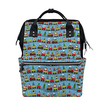 Amazon.com: Papá Noel regalo tren pañales bolsas grande ...