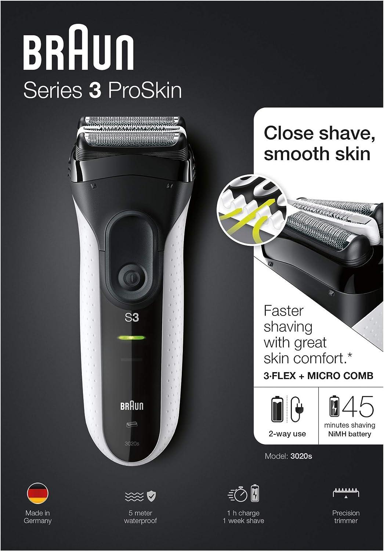 Braun Series 3 ProSkin 3020s Afeitadora Eléctrica Inalámbrica Y ...