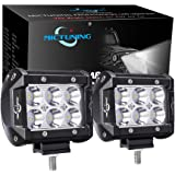 MICTUNING CREE Led Light Bar, 2PCS 4Inch 18W Spot Led Pods 1260lm Off Road Driving Fog Lights For Jeep Rzr ATV UTV SUV Truck Boat Motorcycle