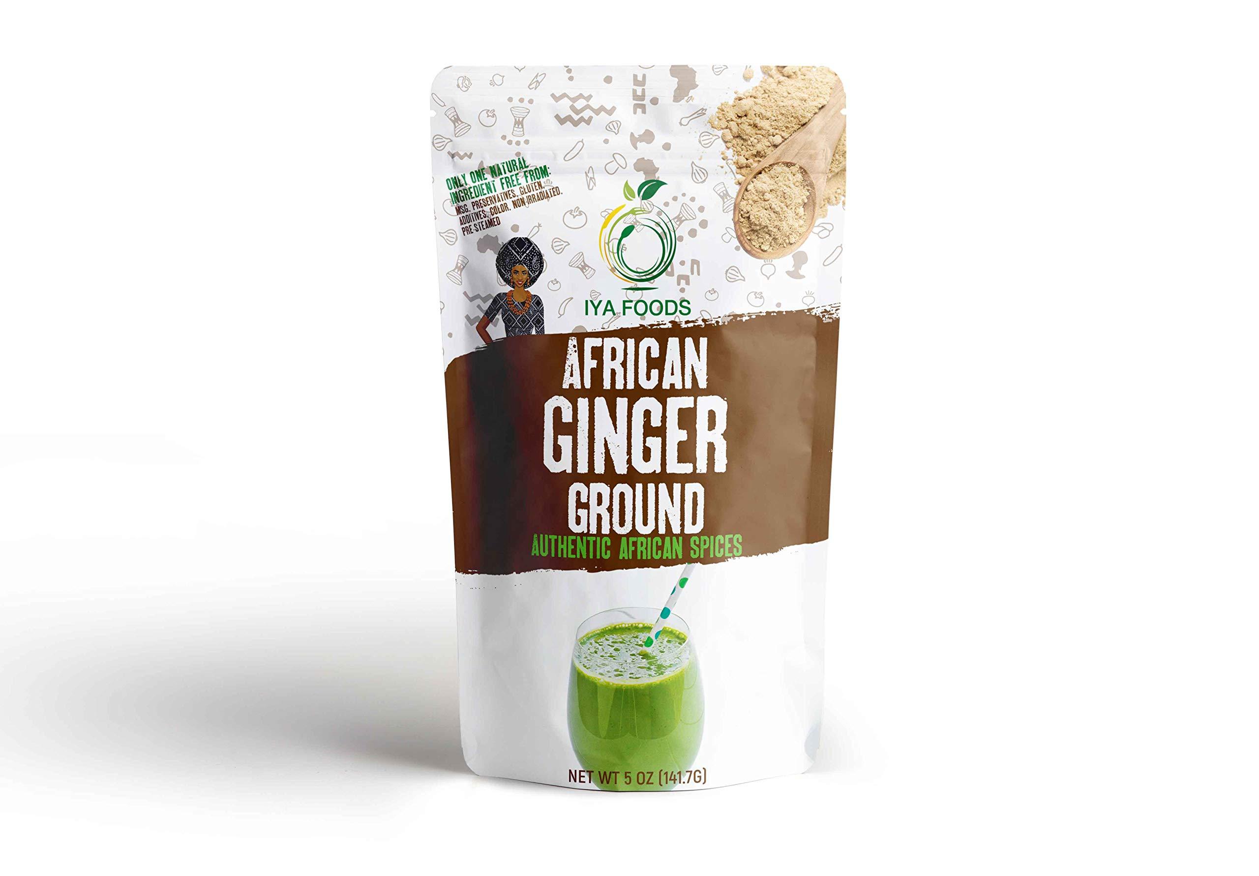 Iya Foods Ginger Ground 5 ounces, Kosher Certified, No Preservatives, No Added Color, No Additives, No MSG