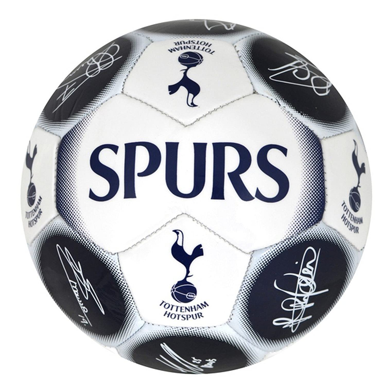 Tottenham Hotspur FC公式Met署名フットボール B011XV3T98ホワイト/ネイビー One Size