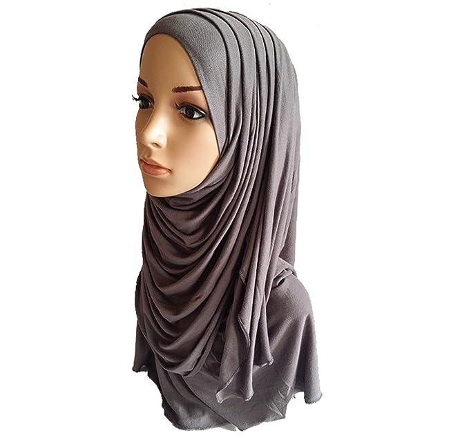 Hijab, sciarpa in cotone jersey Grey Taglia unica