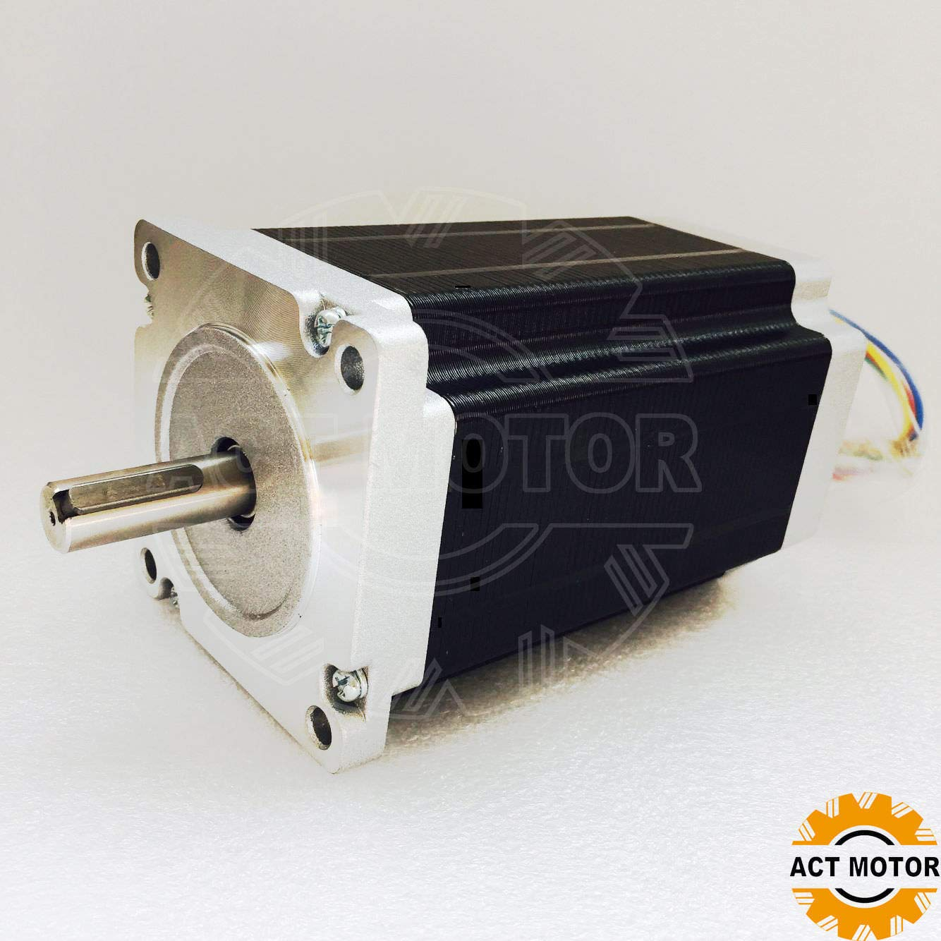 ACT MOTOR GmbH 1Axis Nema34 34HS5460D14L34J5-1 150mm 12Nm 6A φ 14mm Keyway CNC