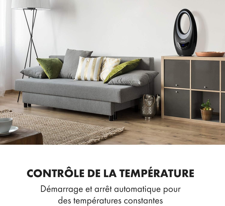 Ventilateur sans pales Oscillation avec Rotation 60/° KLARSTEIN Sahara Storm radiateur soufflant minuterie jusqu/à 12h de 16 /à 40/°C /él/ément Chauffant en c/éramique Puissance: 1000//2000 W Blanc
