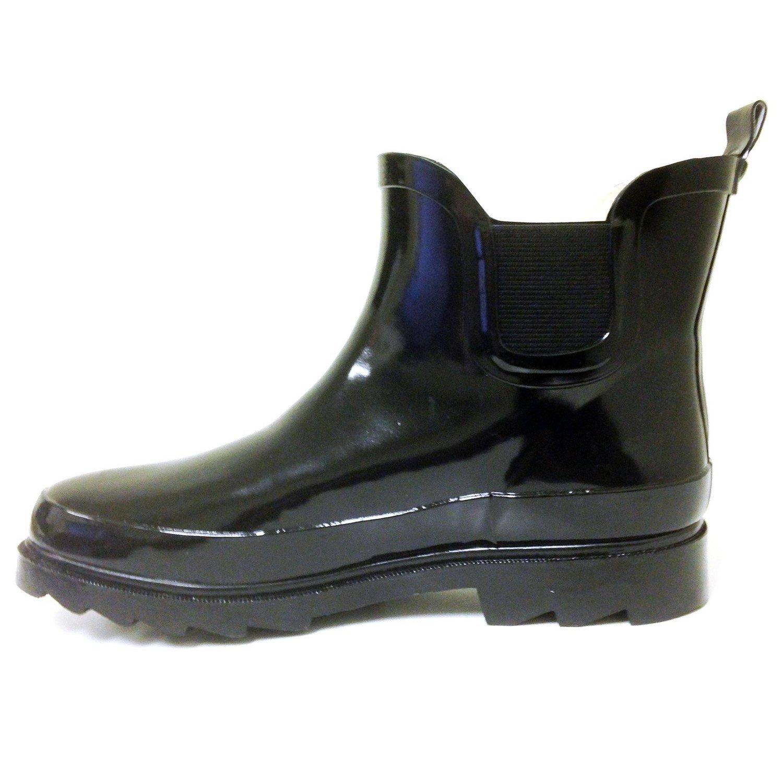 BS Women's Rain Boots Short Ankle Rubber Garden Fashion Snow Shoes Multiple Styles Color B017QM6JR2 9 B(M) US Black