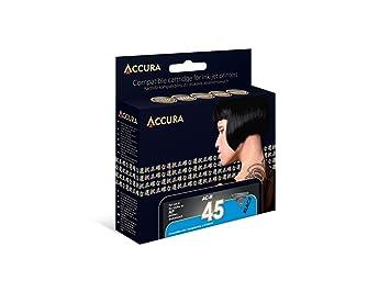 Accura el cartouche dimpression hp no. 45 45 ml noir: amazon.fr