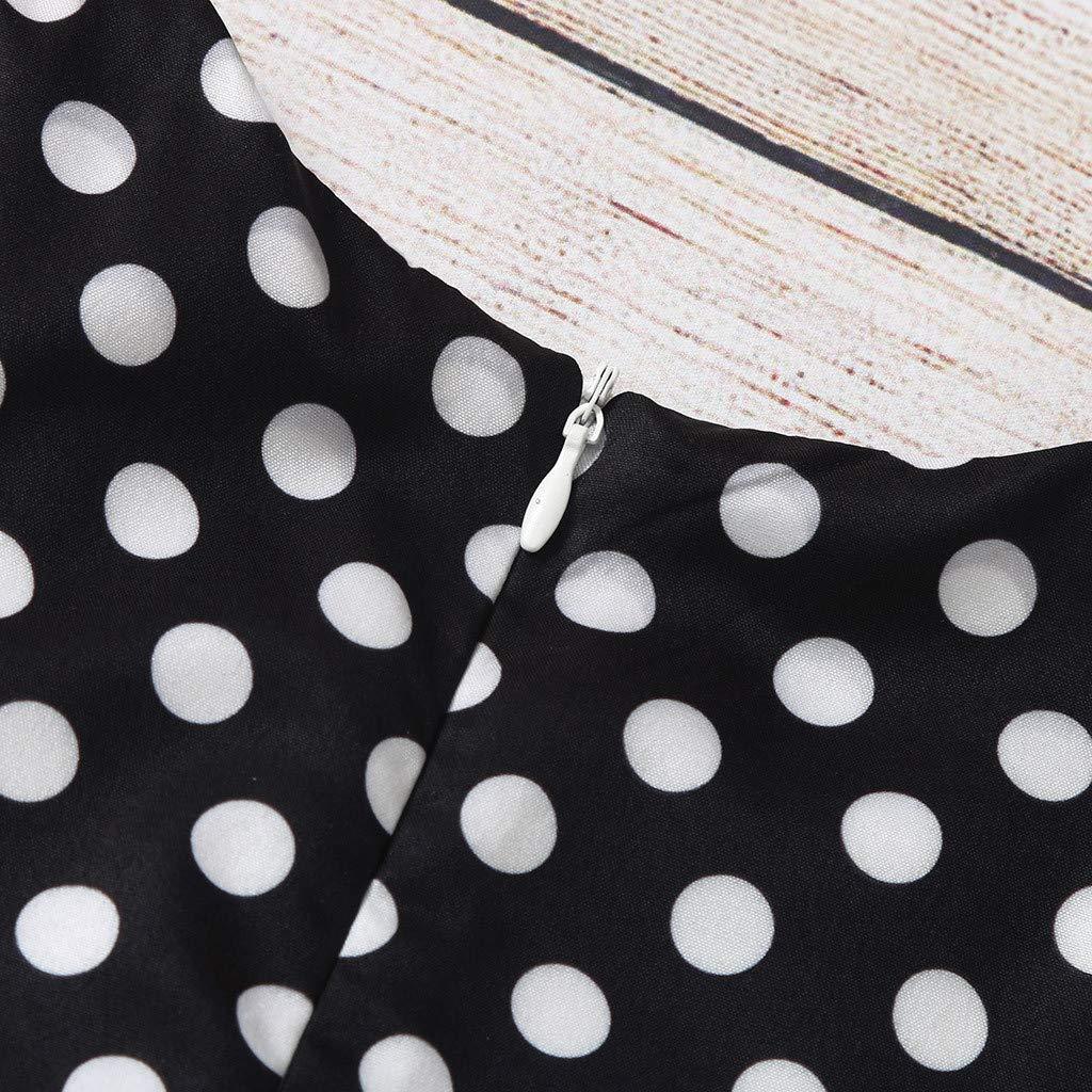 ❤️Kids Girls Vintage Dress Polka Dot Princess Swing Rockabilly Party Dresses Childrens Sleeveless Elegant Baby Summer Bowknot Little Short Ceremony Beach Skirt Kids Gift for Age 6-24 Months