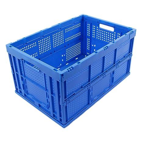 CAJA PLEGABLE 64L, caja plegable de plastico, caja de transporte, cesta de la
